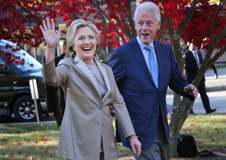 Bill en Hillary Clinton in 2016. Beeld AP