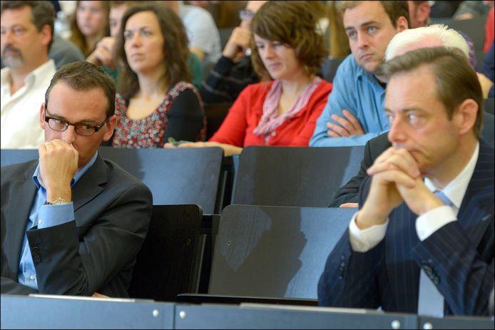 Wouter Beke (CD&V) en Bart De Wever (N-VA), archiefbeeld.