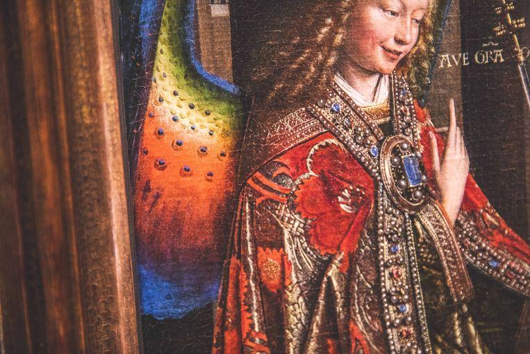 Details en kleur in overvloed op de Annunciatie