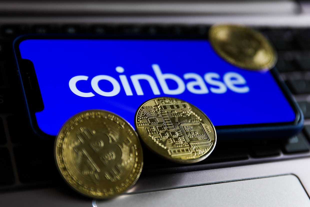 Coinbase Beeld NurPhoto via Getty Images
