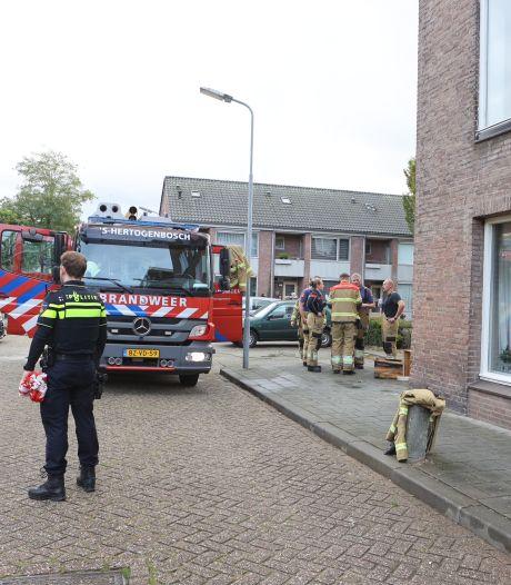 Brand in antikraakpand in Den Bosch: brandweer genoodzaakt om ruiten in te slaan