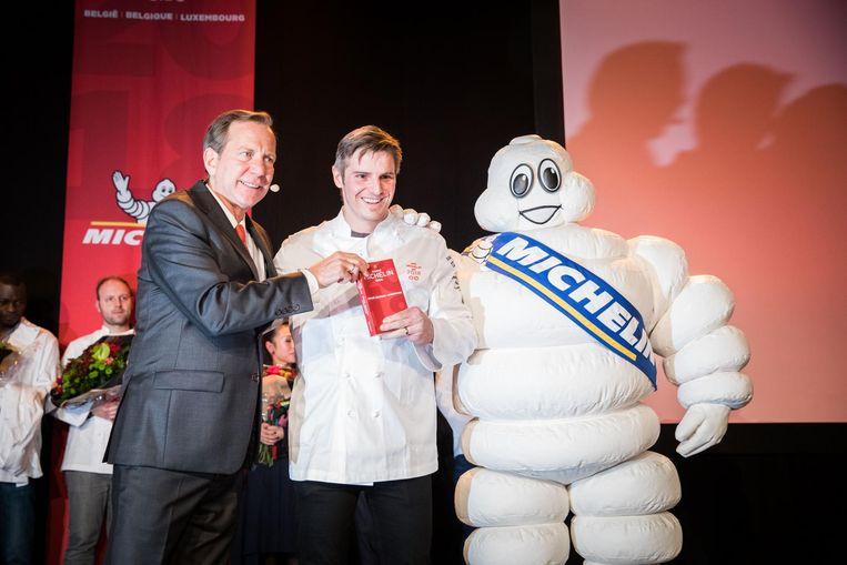 Een beeld van Tim Boury op de uitreiking van Michelin vorig jaar.