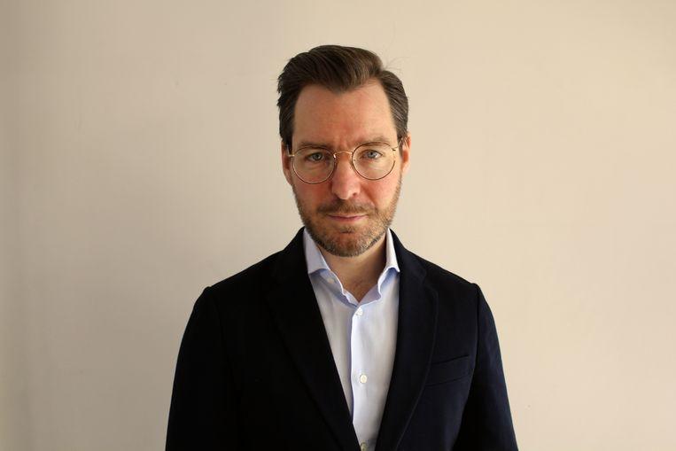Bart Bierman Advocaat ziet kunst kopen als een individuele zaak, waarbij hij en zijn vriendin ieder hun eigen keuzes maken Beeld Het Parool