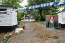 Na de moord op Christine Verbeiren (inzet) werd de woning verzegeld en een perimeter ingesteld.