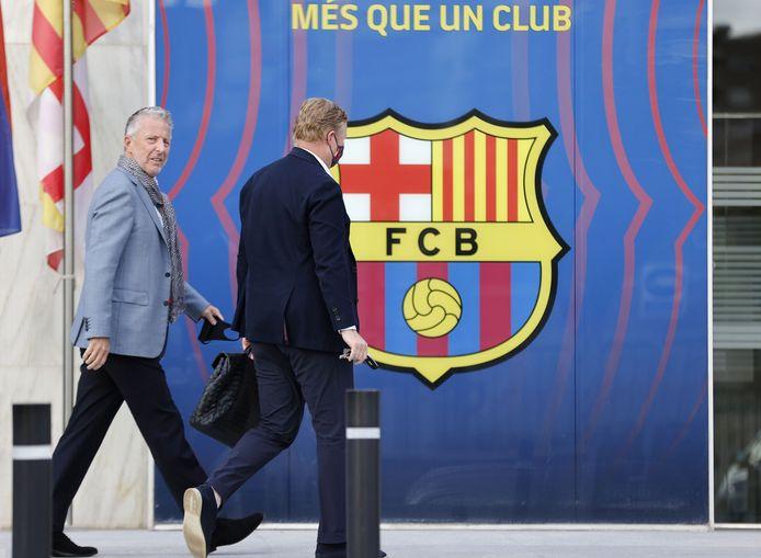 Ronald Koeman voerde vorige week met zaakwaarnemer Rob Jansen een kort gesprek met Laporta in Camp Nou.