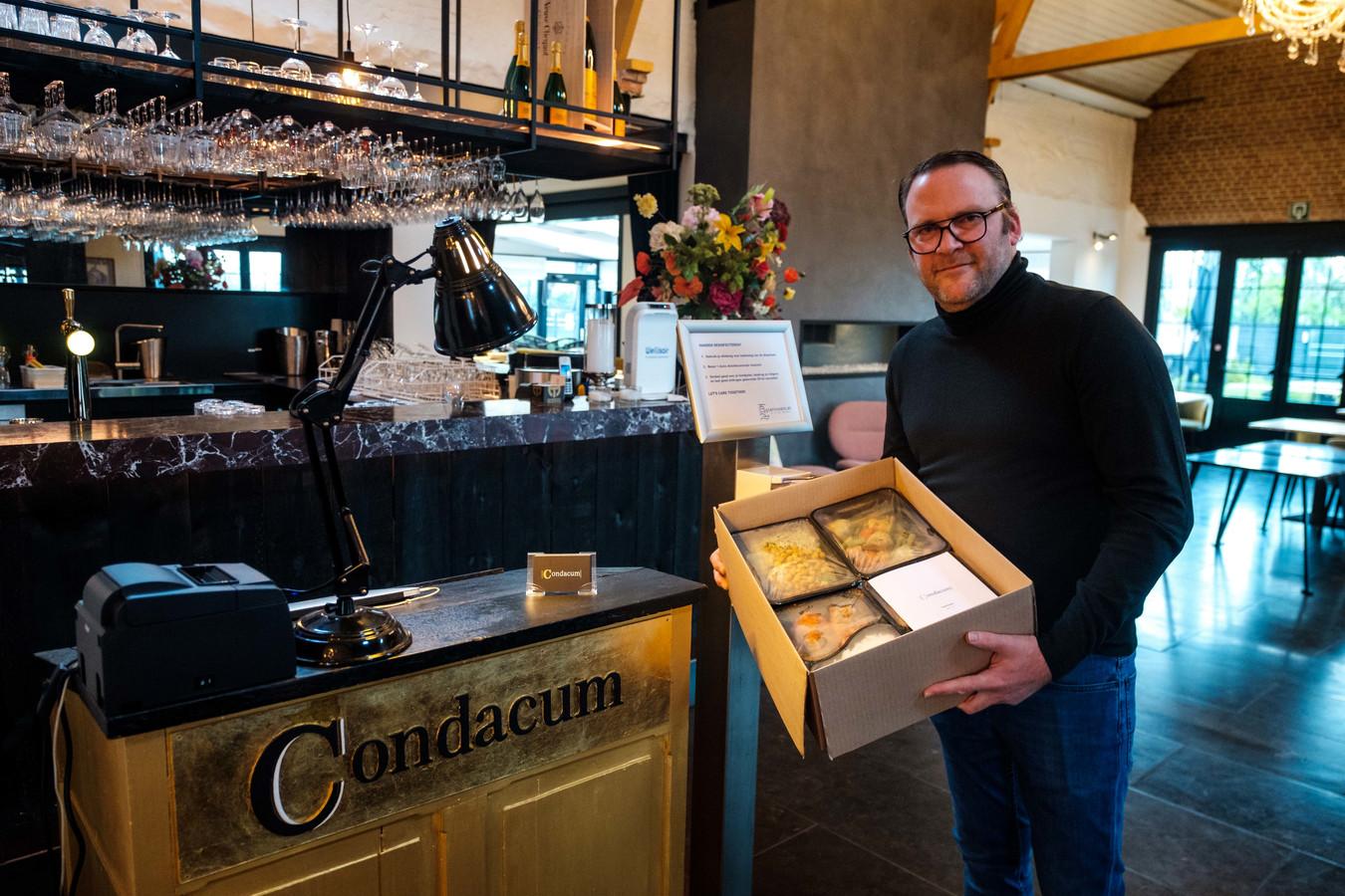 Manager Thierry Peeters van restaurant Condacum is gestart met deliverymaaltijden aan huis. Dat is zo'n succes dat het een blijver wordt, ook na corona.