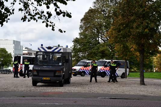 Demonstratie NVU, veel politie op de been.