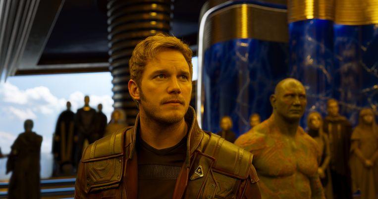 Chris Pratt in 'Guardians Of The Galaxy'. Beeld rv Marvel Studios 2017