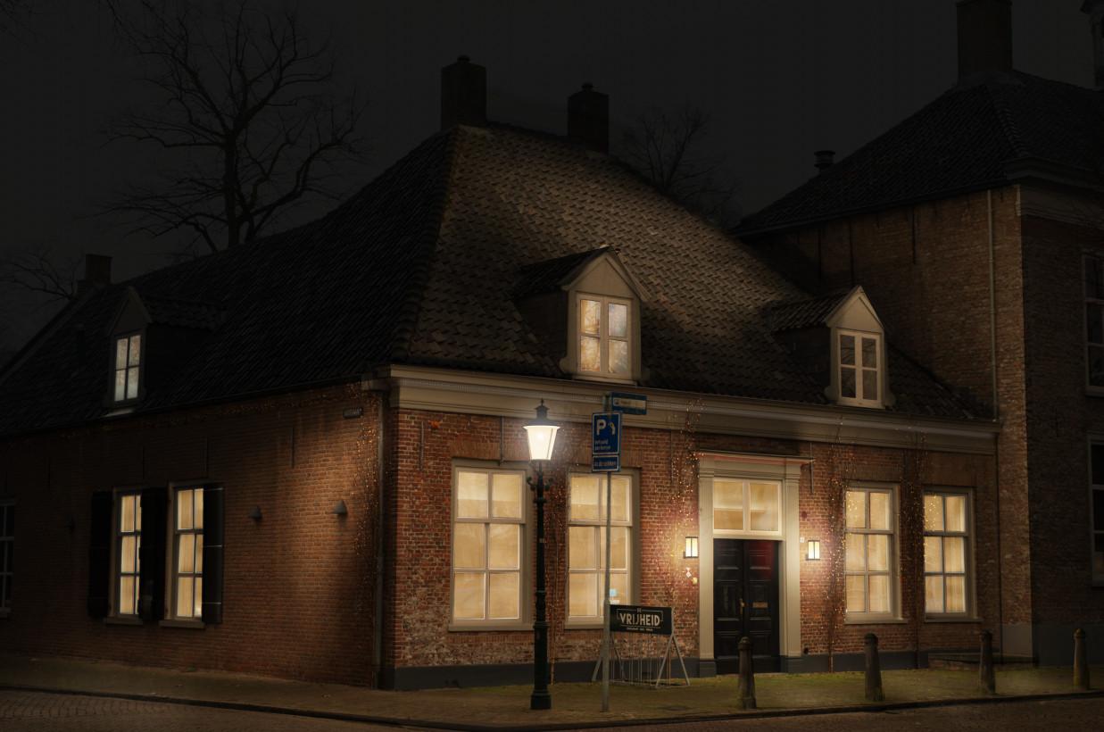 Restaurant De Vrijheid in Oosterhout, een visualisatie. Beeld: Lichtvormgevers.