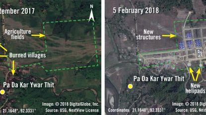 """""""Leger Myanmar bouwt militaire basissen op platgebrande Rohingya-dorpen"""""""