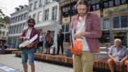 Extinction Rebellion voert actie met kettingzagen op Grote Markt