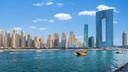Het Address Beach Resort is een opvallende toevoeging aan de skyline van Dubai.