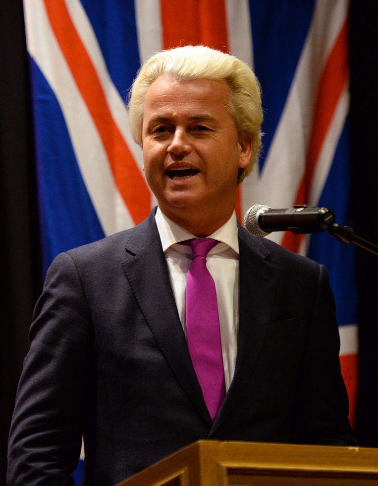 Foto's van het bezoek van Geert Wilders in februari aan Australië, waar hij sprak in Melbourne en Sydney. Beeld AFP