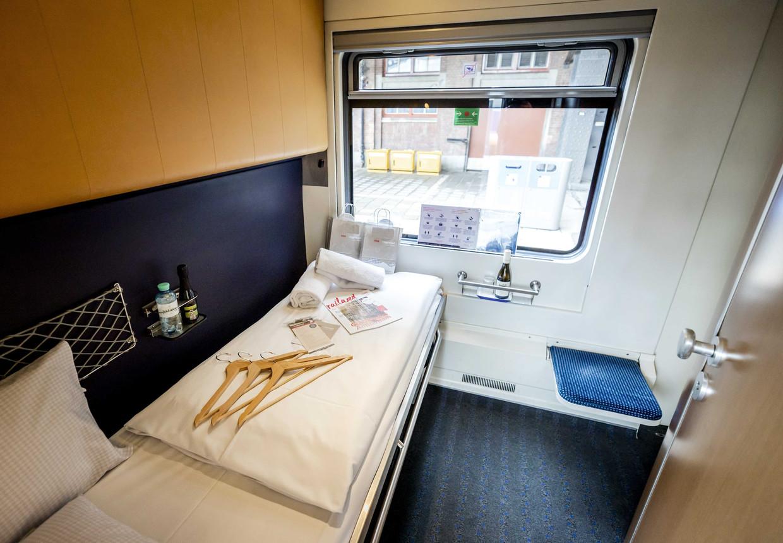 Twee weken geleden vertrok voor het eerst in vierenhalf jaar een nachttrein uit Amsterdam, naar Wenen. Het nieuwe bedrijf European Sleeper wil er meer, onder meer naar Praag. Beeld ANP