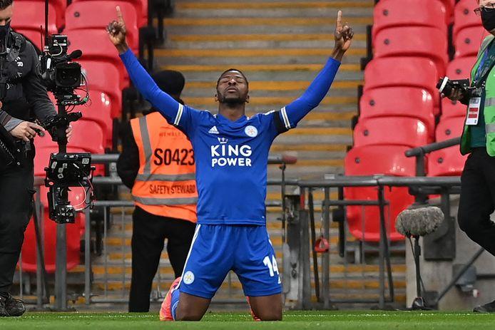 Kelechi Iheanacho was de matchwinner op Wembley.