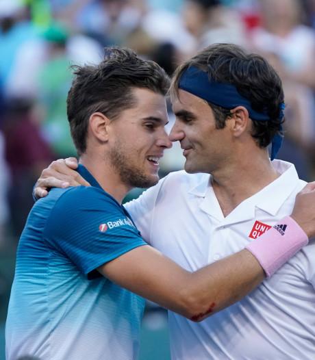 Thiem in illuster rijtje na zege op Federer