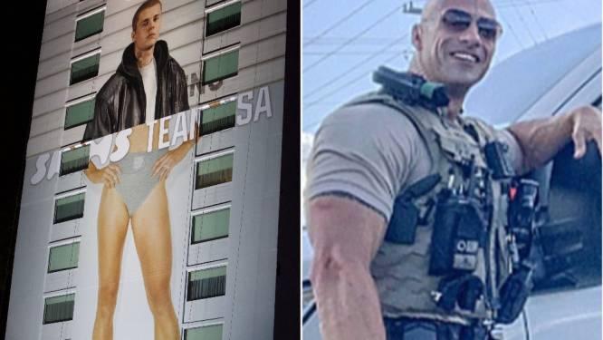 CELEBS 24/7. Justin Bieber poseert met ondergoed van Kim Kardashian en 'The Rock' heeft een dubbelganger