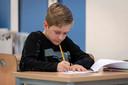 Lucas spant zich tijdens de les op 't Talent in Schijndel.