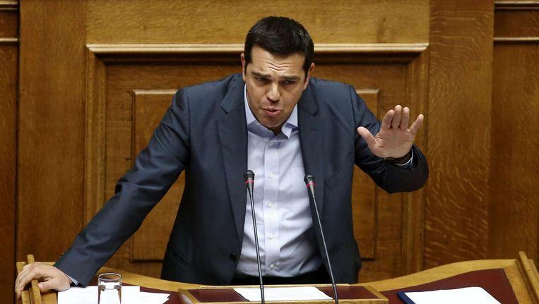 Grieks premier Tsipras hield vandaag in het Grieks parlement een geëmotioneerd betoog.