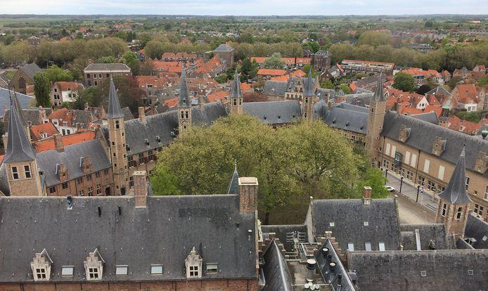 Abdij in Middelburg, zetel van het provinciebestuur.