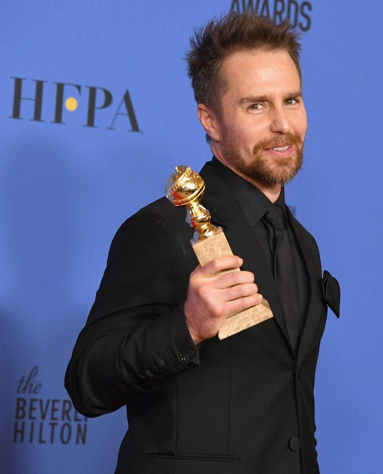 De zegetocht van Rockwell begon op de Golden Globes. Beeld Getty Images