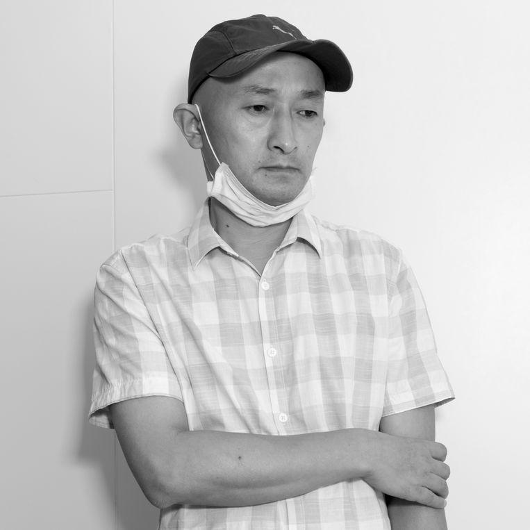 Zhang Hai: 'Ik zal nooit opgeven, hoeveel bedreigingen ik ook krijg.' Beeld Ruben Lundgren
