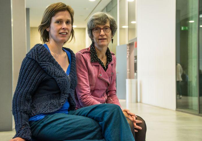 Joke Van Pelt en Myriam Verreycken, twee slachtoffers van Mike D.B., hebben een goed gevoel bij de uitspraak.