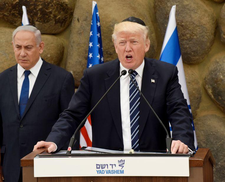 Trump bracht in mei nog een bezoek aan Israël (hier met premier Netanyahu).