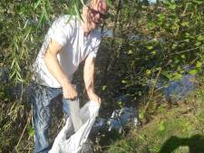 Zakken asbest gedumpt in park Meerland in Eindhoven