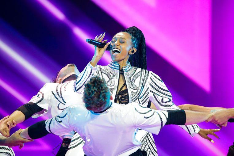 Eden Alene, de inzending van Israël. Beeld Eurovision TV