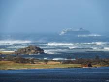Noors cruiseschip zet koers richting wal: 'Het was doodeng'