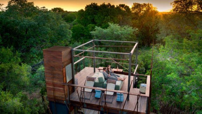 La Ngala Treehouse en Afrique du Sud.