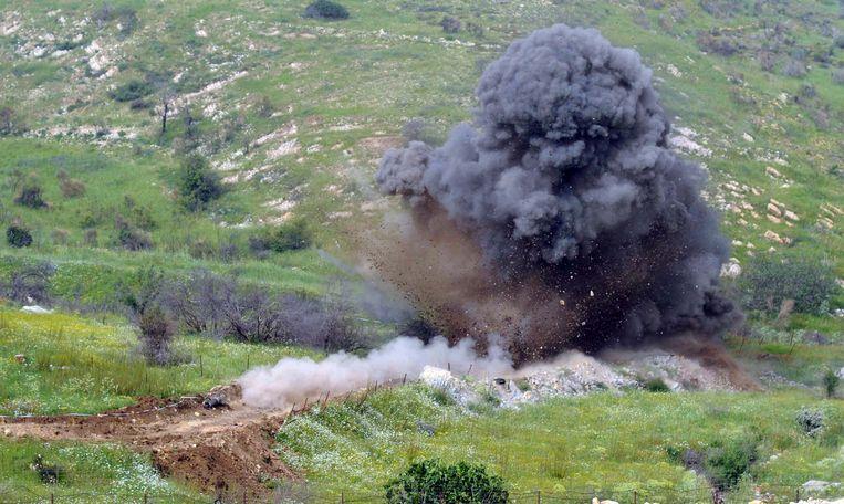 Het mijnenveld werd opgeruimd door het Israëlische leger.
