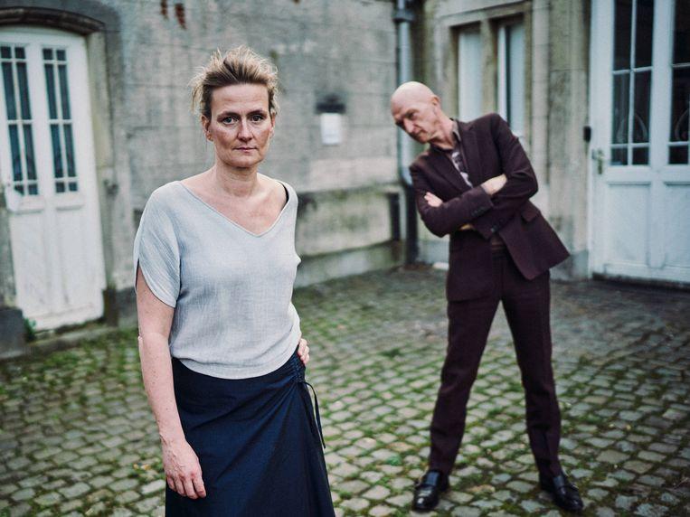 Presentatoren Ruth Joos en Wilfried de Jong. Beeld Thomas Sweertvaegher