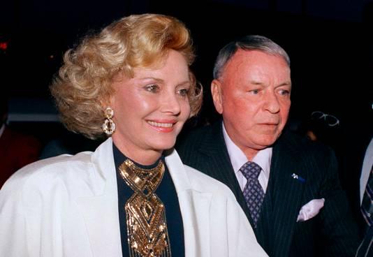 Frank en Barbara Sinatra in 1988.
