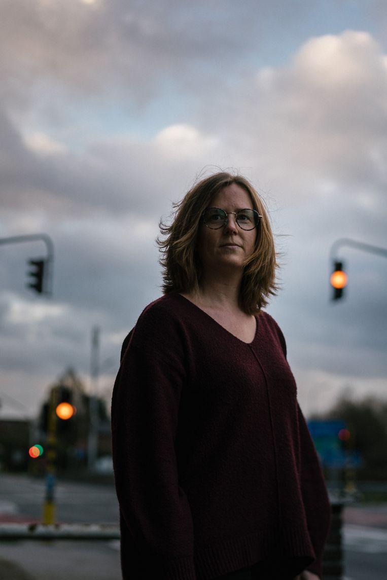 Cynthia Buyse: 'Ik had niets zien gebeuren. Heel mijn lichaam deed pijn. Ik vroeg continu: 'Hoe is het met die man?' Maar zij mochten niets zeggen.' Beeld Wouter Van Vooren