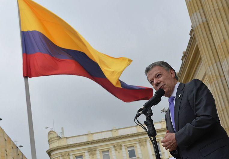De Colombiaanse president Juan Manuel Santos Beeld AFP