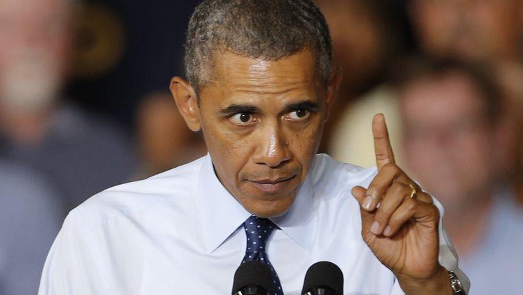 De Amerikaanse president Barack Obama. Beeld AP