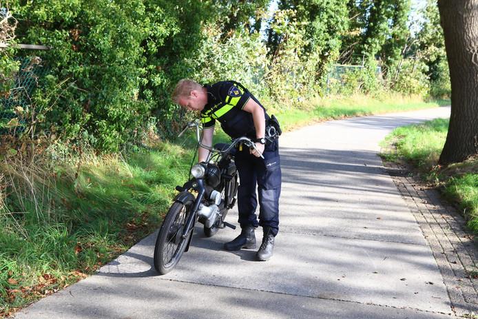 Ongeluk tussen fietser en brommer in Sint-Oedenrode.