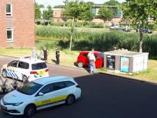 Auto rijdt tegen elektriciteitshuisje in Woerden