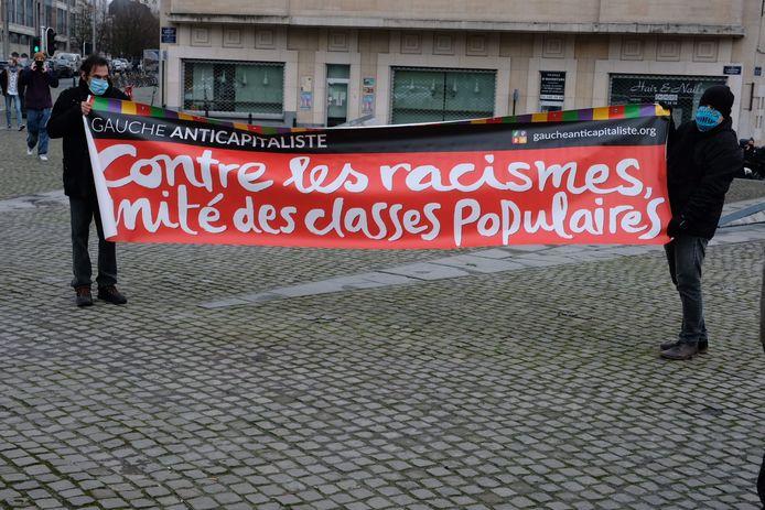 betoging tegen 'Klassenjustitie' in Brussel