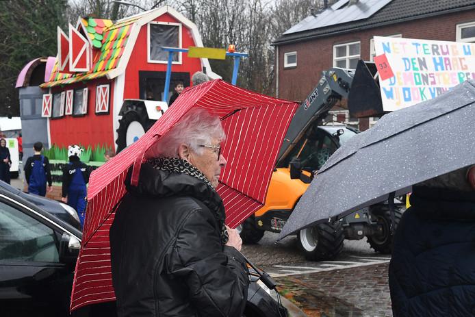 Dit is óók het beeld dit jaar. Regen, regen, regen. Hier in Sint Hubert.