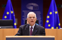 EU-commissaris voor Buitenlandse Zaken en Veiligheidsbeleid Josep Borrell tijdens een plenaire vergadering in het EU-parlement over de arrestatie van de Russische oppositieleider Aleksej Navalny.