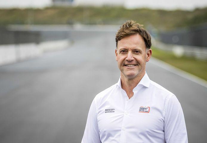 Robert van Overdijk, directeur Dutch Grand Prix, op het circuit van Zandvoort.