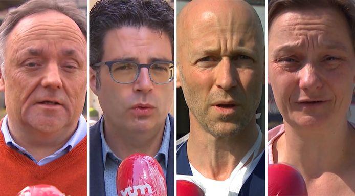 Experten Marc Van Ranst, Steven Van Gucht, Geert Meyfroidt en Erika Vlieghe krijgen een goede score mee.