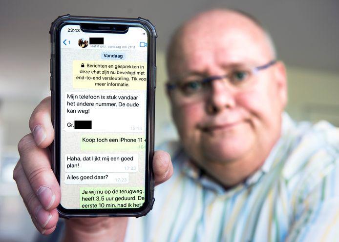 Bas Verkroost dacht een appje te krijgen van zijn zoon en maakte 7700 euro over.