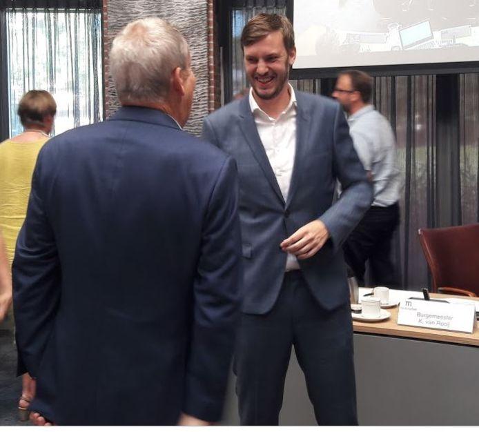 Rik Compagne na zijn benoeming tot wethouder van Meierijstad in 2019.