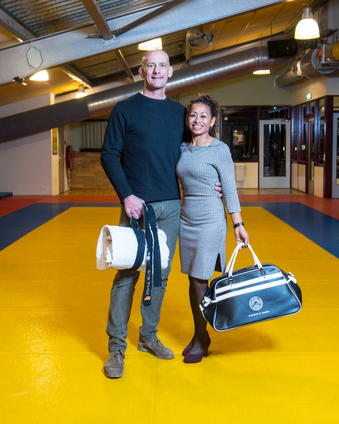 Theo en Nika Meijer in hun sportcomplex in Leusden.