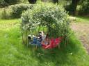Une cabane en saules!