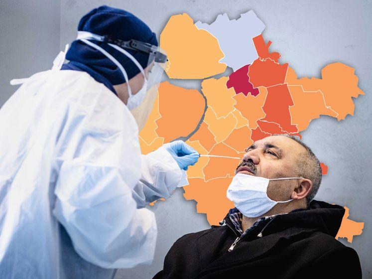 KAART | Heel Oost-Nederland haalt opgelucht adem, op één gemeente na